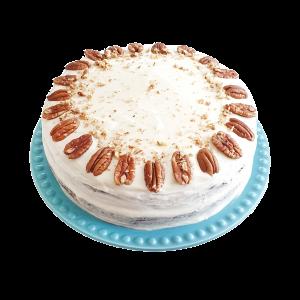 Heerlijke biologische carrot cake. Bedrijfstaarten, lekkere luxe bijzondere taarten, cakejes en gebak. Alles is 100% BIO, ook hebben we vegan keuzes. Duurzame relatiegeschenken, trakties en verwennerijen zijn nu gemakkelijk online te bestellen bij EkoBites. Afhalen en bezorgen.