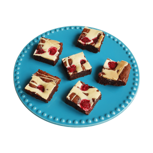 Raspberry White Choco Brownie - Unieke bio fudgy brownies bestel je bij EKOBITES | All Organic | Ambachtelijk | Duurzaam | Vers op order | Vegan Keuzes - Kleinhandel - Groothandel - Relatiegeschenken
