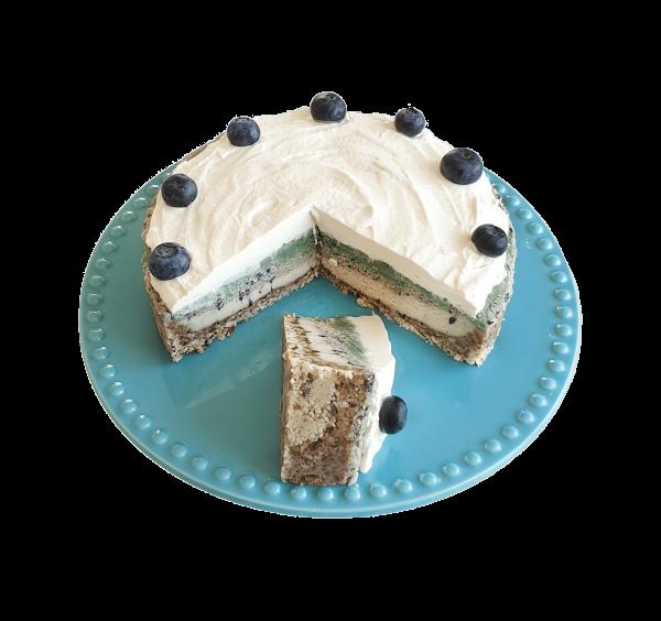 Vegan Blueberry Cheesecake Veganistische biologische bosbessen cheesecake lekkere biologische natuurlijke taarten bestellen luxe taarten groothandel bezorgen afhalen den haag voorburg leiden leidschendam zoetermeer gouda rijswijk westland wateringen delft