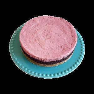 Vegan Forest Cheesecake Veganistische bosbessen frambozen cheesecake lekkere natuurlijke biologische gebakjes taarten grote luxe taarten online bestellen bezorgen afhalen den haag zoetermeer voorburg delft pijnacker wassenaar leiden leidschendam zuidholland vegetarisch