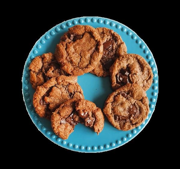 Vegan Chocolate Chip Cookies Koekjes gemakkelijk online bestellen kan nu op onze gloednieuwe webwinkel! De lekkerste natuurlijke veganistische gebakjes bio lekkernijen gemakkelijk per post. Voor 14.00 besteld is vandaag verzonden!