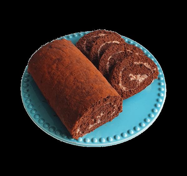 Bio Swiss Roll Cake Chocolate chocoladetaart biologische lekkere taart slof veganistische natuurlijk bijzondere taarten gebakjes lekkernijen online bestellen bezorgen afhalen bedrijfstaarten den haag voorburg leiden leidschendam zoetermeer leidschenhage rijswijk delft alphen aan de rijn hoek van holland chocolade rol handgemaakt ambachtelijk en vers