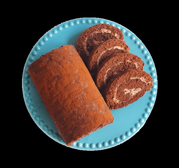Bio Swiss Roll Cake Chocolate chocoladetaart biologische lekkere taart slof veganistische natuurlijk bijzondere taarten gebakjes lekkernijen online bestellen bezorgen afhalen bedrijfstaarten den haag voorburg leiden leidschendam zoetermeer leidschenhage rijswijk delft alphen aan de rijn hoek van holland aardebeien rol handgemaakt ambachtelijk en vers