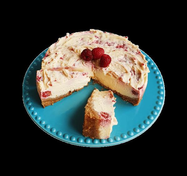 Biologische frambozen cheesecake new york style natuurlijke lekkernijen online bestellen den haag voorburg zoetermeer leiden leidschendam delft gouda bezorgen