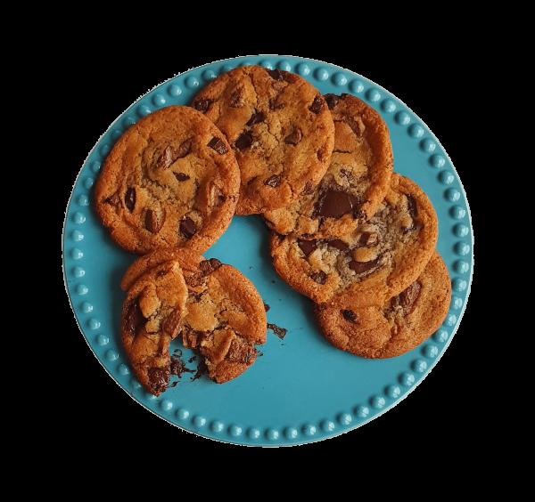 American organic chocolate chip cookies - Bestel gemakkelijk online de lekkerste biologische koekjes - Bio gebakjes en lekkernijen - Je kunt bij ons terecht voor geschenkjes, kleinhandel, groothandel, white label of private label.