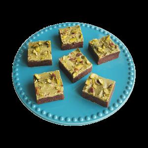 Pistashe Brownies - Bio Vegan Brownie Box - Bio Cookie Box Bestellen - Biologische natuurlijke ingredienten - Vegan Keuzes - Lux Geschenk - Duurzaam - natuurlijke chocolade gebakjes