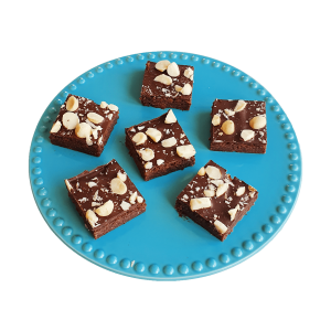 Biologische Vegan Brownie Box per post - Cookie Box online bestellen - natuurlijke macadamia brownie per post bestellen - bio brownie bio cookie bio blondie - vegan gebakjes en lekkernijen