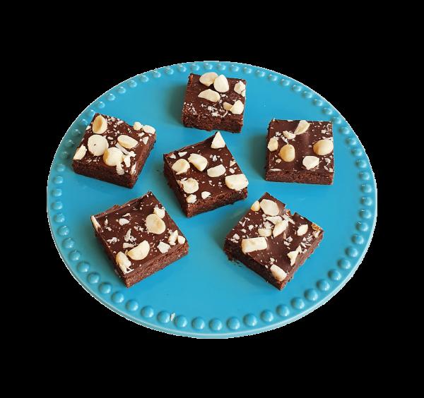 Biologische Vegan Brownie Box per post - Cookie Box online bestellen - natuurlijke macadamia brownie per post bestellen - bio brownie bio cookie bio blondie - vegan gebakjes en lekkernijen