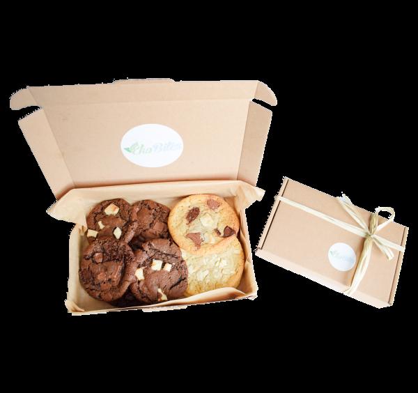 Biologische cookies box bestellen online natuurlijke koekjes organic cookies per post, cookie and brownie box als geschenk biologische gebakjes bestellen koekjes per post leuk eko cadeau bestellen