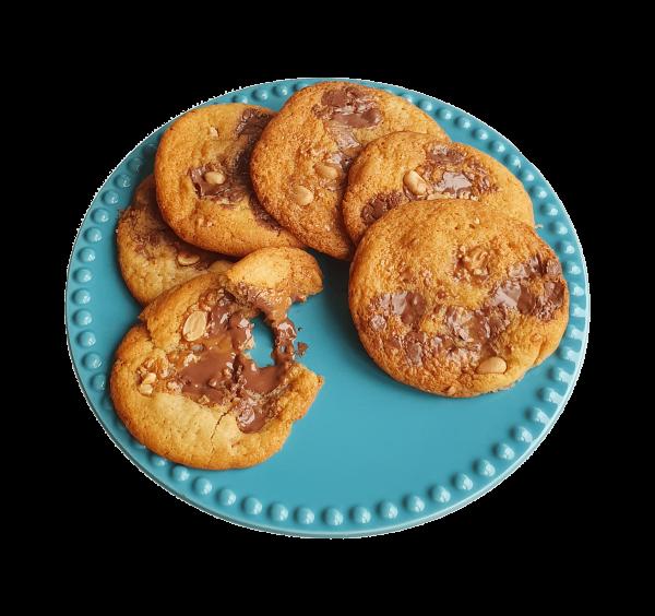 Biologische koekjes per post online bestellen - Chewy chocolate chip cookies box - Fudgy brownie box - Ambachtelijk en duurzaam relatiegeschenk - Cadeau - Horeca