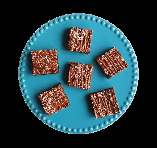 Bounty Brownies - Biologische brownies en cookies per post - Onze Fudgy brownies zijn nu natuurlijk en nu nog lekkerder - Duurzaam en Ambachtelijk geschenk - Organic Exclusive Cakes - B2B Partnership - Zakelijk - Horeca