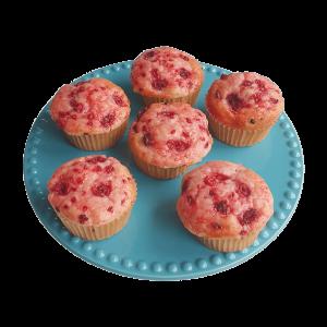 Bio Vegan Raspberry Muffins - Heerlijke Biologische Veganistische Frambozen Muffins - De lekkerste natuurlijk moist muffins online verkrijgbaar op onze nieuwe webshop!