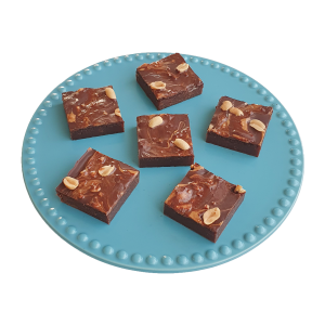Bio vegan peanut butter brownies per post - Deze heerlijke fudgy brownies zijn biologisch, vegan, ambachtelijk, vers op order, met de beste kwaliteit handgemaakt en makkelijk te bestellen op onze webshop. Nu met gratis persoonlijk boodschap. Op werkdagen voor 14.00 besteld is zelfde dag verzonden! Fudgy brownies - chewy chocolate chip cookies - moist muffins - exclusive cakes & more