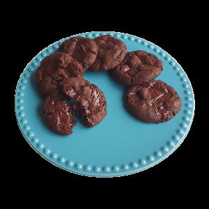 Organic Vegan Double Chocolate Chip Cookies per post ontvangen? Bestel nu gemakkelijk online uw biologische gebakjes | Vegan keuzes | Suikervrije opties | Brede assortiment | Taart op maat | Relatiegeschenk | B2b