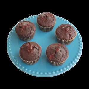 Organic Vegan Chocolate Muffins per post bestellen - Deze heerlijke moist muffins zijn biologisch, vegan, vrij van geraffineerde suikers, ambachtelijk, vers op order, met de beste kwaliteit handgemaakt en makkelijk te bestellen op onze webshop. Nu met gratis persoonlijk boodschap. Op werkdagen voor 14.00 besteld is zelfde dag verzonden! Fudgy brownies - chewy chocolate chip cookies - moist muffins - exclusive cakes & more