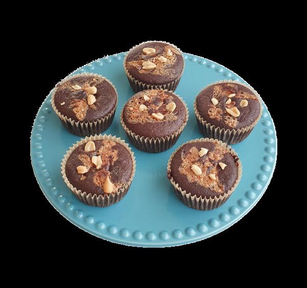 Vegan Muffins bestellen ? - Deze Peanut Butter Muffins zijn volledig biologisch, veganistisch, ambachtelijk en vers op order! - Gemakkelijk verstuurbaar per post - Met gratis persoonlijk boodschap! Werkdagen voor 14.00 bestellen is zelfde dag verstuurd!