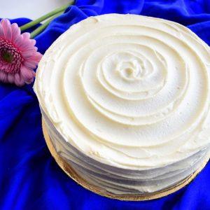 Bio Vegan Dreamy Vanilla Cake (*glutenarm) (*suikervrij) - Biologisch, Vegan, Suikervrije en Glutenarme Taart Bestellen | Ambachtelijk - Duurzaam - Vers op Order | De lekkerste Bio Vegan Taarten en Gebakjes gemakkelijk online te bestellen!